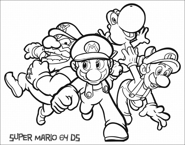 Free Super Mario Coloring Sheets Archives