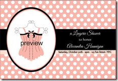 lingerie bachelorette party invitation