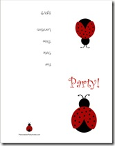 Free Printable Lady Bug Invitation PDF
