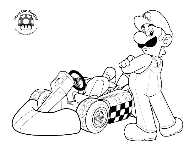 Free Mario Coloring Pages Archives