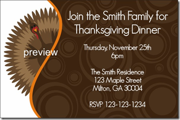 thanksgiving invitation - gobble gobble