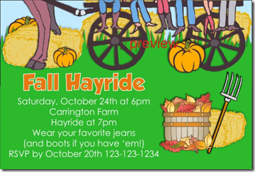 fall hayride invitation 2