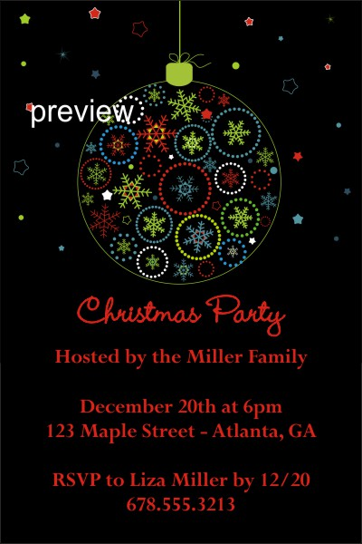 office christmas party invitations Archives -