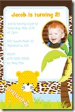 junglie birthday party invitation