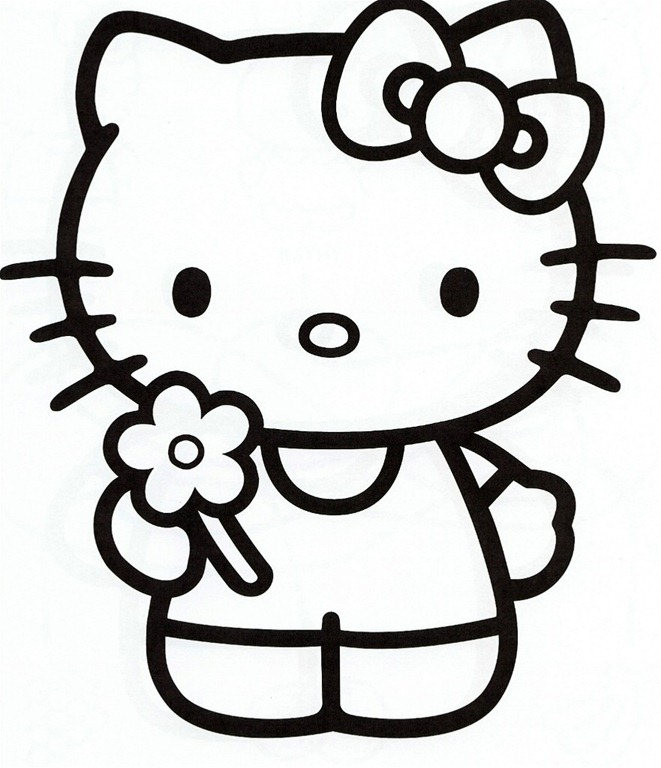 Hello Kitty Printable Coloring Pages Sheets -
