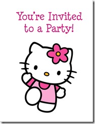 free hello kitty invitation