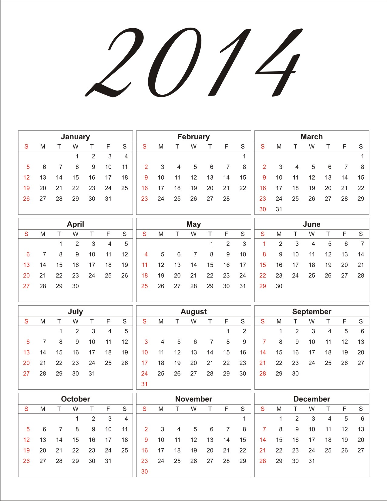 Free 2014 Printable Calendar Personalized Party Invites