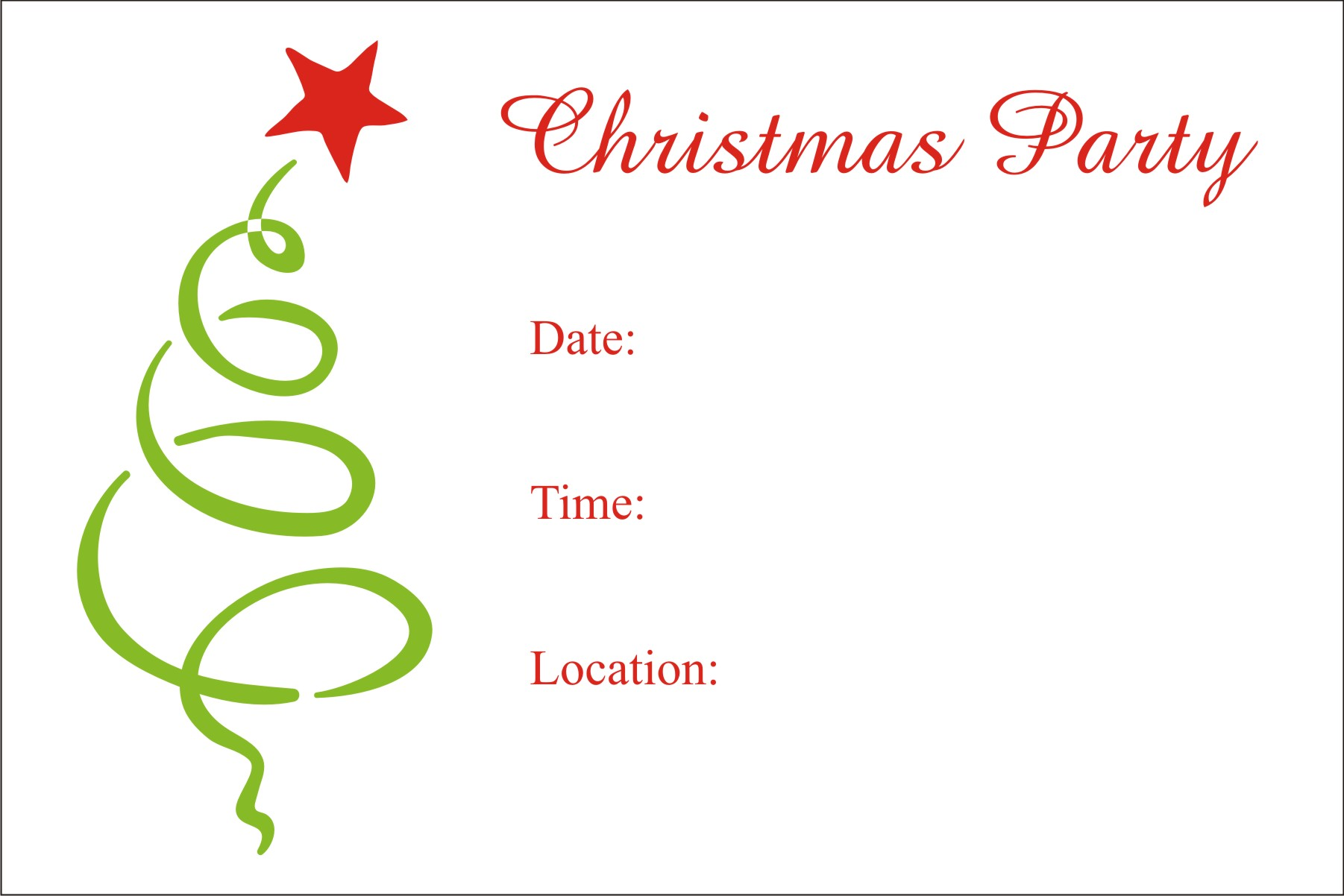 Christmas Party Free Printable Holiday Invitation Personalized – Printable Christmas Party Invitation