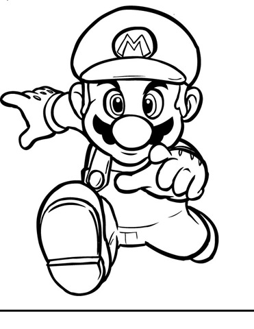Super Mario Brothers Mario Luigi Free Printable Coloring Pages Sheets